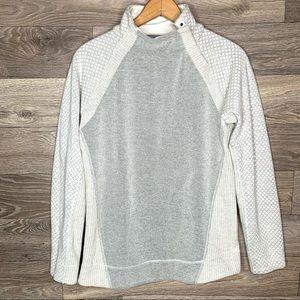Prana Brandie Wool Blend Snap Cowl Sweater
